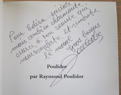 """Dédicace De POULIDOR Sur """" POULIDOR Par RAYMOND POULIDOR """" - Livres Dédicacés"""
