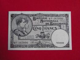 Belgique - Belgium 5 Francs 11.04.1938 Pick 108 SPL / AU ! (CLN63 ) - [ 2] 1831-... : Royaume De Belgique