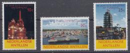 Nederlandse Antillen - 50 Jaar Olie-industrie Op Curaçao - MNH - NVPH 355-357 - Fabrieken En Industrieën