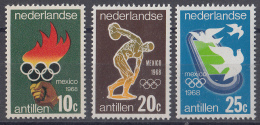 Nederlandse Antillen - Olympische Spelen Mexico 1968 - MNH - NVPH 393-395 - Zomer 1968: Mexico-City
