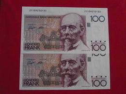 Belgique - Belgium 100 Francs Sérial Consécutives Lot 1989 - 92 Sign. 14 Pick 142 NEUF / UNC ! (CLN66 ) - [ 2] 1831-... : Regno Del Belgio