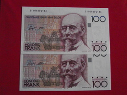 Belgique - Belgium 100 Francs Sérial Consécutives Lot 1989 - 92 Sign. 14 Pick 142 NEUF / UNC ! (CLN66 ) - 5 Francs