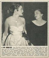 JOAN FONTAINE E PATRICIA NEAL RITAGLIO DI GIORNALE 1952 - Vecchi Documenti