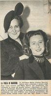 M.CRISTINA ED. ELETTRA MARCONI RITAGLIO DI GIORNALE 1952 - Vecchi Documenti