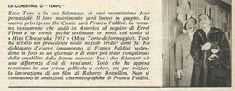 TOTO' E FRANCA FALDINI RITAGLIO DI GIORNALE 1952 - Vecchi Documenti