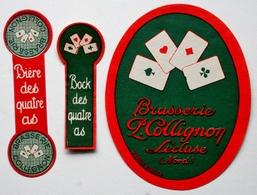 Etiquette Ancienne BIERE - Brasserie COLLIGNON - LECLUSE (Nord) Bière Bock Des Quatre As /E305 - Bière