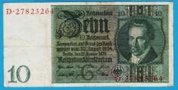 DEUTSCHES REICH 10 MARK 22.01.1929   P#180a  Letter G  Serial#  D - [ 3] 1918-1933 : Weimar Republic