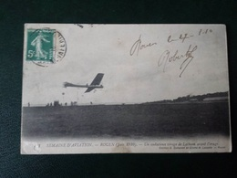 CPA BOOS  SEMAINE DE L AVIATION 1910 UN ATERRISSAGE DU LATHAM - Francia