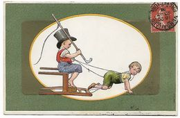 JEUX D'ENFANTS - Carte Gauffrée - Cartes Humoristiques