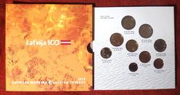 LATVIA LETTLAND 2018 5,88 EURO 100 Jahr Baltischen Staaten KMS BU Satz 1c-2 Euro - Latvia