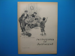 (1947) Fantaisistes Et Fantaisies : Document De 5 Pages (Texte De Léon-Paul FARGUE, Dessins D'Albert DUBOUT) - Vieux Papiers