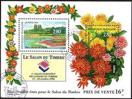 France Oblitération Cachet à Date BF N°  16 (2909 Et 2910) Salon Du Parc Floral - Dahlias - Used