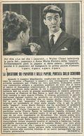 """W.CHIARI A.M. FERRERO """"LO SAI CHE I PAPAVERI"""" RITAGLIO DI GIORNALE 1952 - Vecchi Documenti"""