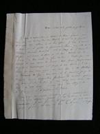 1 Lettre Prise D'ancone Italie Au General Cubieres Autographe 1er Secretaire Ambassade Emile De Langsdorff Sur Goelette - Documents Historiques