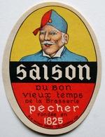 Etiquette Ancienne BIERE - Saison Du Bon Vieux Temps De La Brasserie PECHER  (soldat)      /E318 - Bière