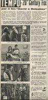 """GRANDE CONCORSO PER IL FILM """"DAVID E BETSABEA"""" RITAGLIO DI GIORNALE 1952 - Vecchi Documenti"""
