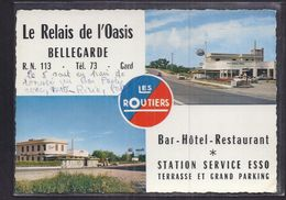 CPSM 30 - BELLEGARDE - Le Relais De L'Oasis - TB CP 2 Vues Avec STATION SERVICE ESSO - R.N. 113 - Bellegarde