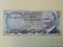 5 Lirasi 1970 - Turchia