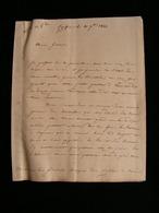 21 Lettres Prise D'ancone Italie Au General Cubieres Autographe Challaye Consul A Corfou Grece 1833-1834 - Documents Historiques