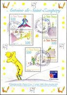 France Oblitération Cachet à Date BF N°  20 (3175 à 2179) Exposition Philex - Le Petit Prince Saint Exupéry - Sheetlets