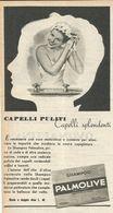 SHAMPOO PALMOLIVE RITAGLIO DI GIORNALE 1952 - Vecchi Documenti