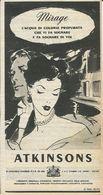 ATKINSON MIRAGE ACQUA DI COLONIA RITAGLIO DI GIORNALE 1952 - Vecchi Documenti