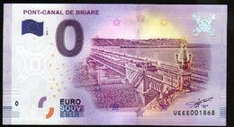 France - Billet Touristique 0 Euro 2018 N° 1868 (UEEE001868/5000) - PONT-CANAL DE BRIARE - EURO