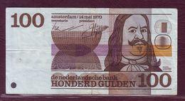 PAYS - BAS - 100 GULDEN Michiel Adriaensz De Ruyter - 14/05/1970 - P.93 - [2] 1815-… : Kingdom Of The Netherlands