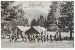 Cpa Bon Etat , Turini , Environs De Peira-cava, Campement Supérieur Et La Forêt , Carte Rare , Timbres Courrier Verso - Autres Communes