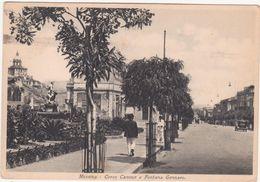 A204  MESSINA CORSO CAVOUR E FONTANA GENNARO ANIMATA 1936 - Messina
