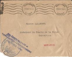 Devant D ' Enveloppe  Ecole Militaire  Et  D ' Applications Des Transmissions  MONTARGIS  /  Envoi  En  1947 - Marcophilie (Lettres)