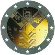 LITAUEN LITHUANIA 2018 2 EURO 100 Jahrestag Der Baltischen Staaten COIN FROM ROLL UNC  BALTIA  100 YEAR - Litouwen