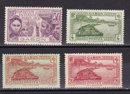 Gabon N°122*,127*,130*,131* - Neufs