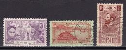 Gabon N°122*,130, 136 - Gabon (1886-1936)