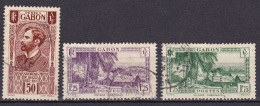 Gabon N°136,140A,141A - Ongebruikt