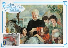 Italia 1998 Ortona San Giovanni Bosco Annullo Cartolina Dedicata - Christianity