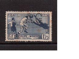 France-1938(Mi.427),World Cup-1938(perfin AG), Football, Soccer, Fussball,calcio, Used - World Cup
