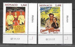 Monaco 2018 - Yv N° 3118 & 3119 ** - Les Films De Grace Kelly  (Haute Société Et L'émeraude Tragique) - Unused Stamps