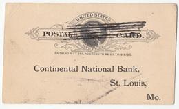 USA, Western National Bank Postal Stationery Postcard Travelled 1895 B180122 - Entiers Postaux