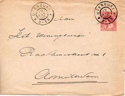 Envelop G8b  Met Grootrond IJZENDIJKE Naar Amsterdam - Postwaardestukken