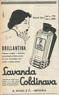 LAVANDA COLDINAVA A.NIGGI E C.IMPERIA RITAGLIO DI GIORNALE 1952 - Vecchi Documenti