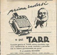 PRIMA DI RADERSI TARR RITAGLIO DI GIORNALE 1952 - Vecchi Documenti