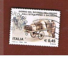 ITALIA REPUBBLICA  - UNIF. 2845   -   2005  ESODO ISTRIA  - USATO - 6. 1946-.. Repubblica