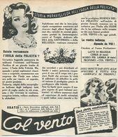 COL VENTO CIPRIA PROFUMO RITAGLIO DI GIORNALE 1952 - Vecchi Documenti