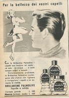 BRILLANTINA PALMOLIVE RITAGLIO DI GIORNALE 1952 - Vecchi Documenti