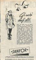 IMPERMEABILI SANFOR RITAGLIO DI GIORNALE 1952 - Vecchi Documenti