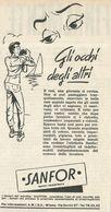 ABITI SANFOR RITAGLIO DI GIORNALE 1952 - Vecchi Documenti