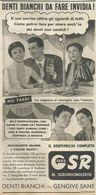 DENTIFRICIO GSR GIBBS RITAGLIO DI GIORNALE 1952 - Vecchi Documenti