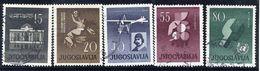 YUGOSLAVIA 1960 Anniversaries, Used.  Michel 930-34 - 1945-1992 Socialist Federal Republic Of Yugoslavia