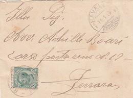 Italia Regno 1915 -  Busta  Da Ravallo X Ferrara  Affrancata Con 1 Valore Isolato Da 5 Cent - 1900-44 Vittorio Emanuele III